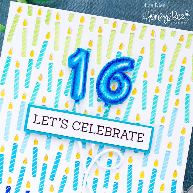 16 Candles Birthday Card by Ilda - Day 1 Sneak Peek Honey Bee Stamps 5th Anniversary Release