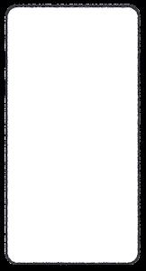 スマートフォンのイラスト3(ブランク)