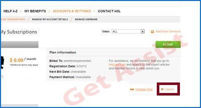 How To Cancel A Paid AOL Account?
