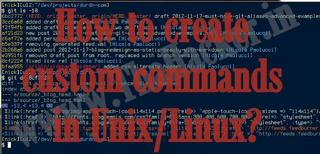 How to create custom commands in Unix/Linux?