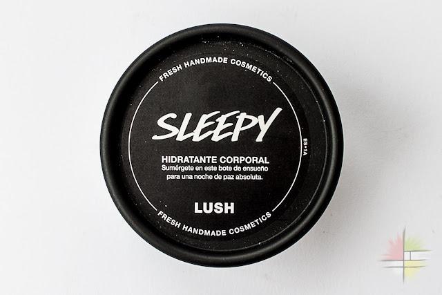 Sleepy, la hidratante corporal de lavanda de Lush. Edición Limitada de Navidad 2016.