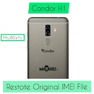 Condor Plume H1 Original IMEI Restore File   Download Free  