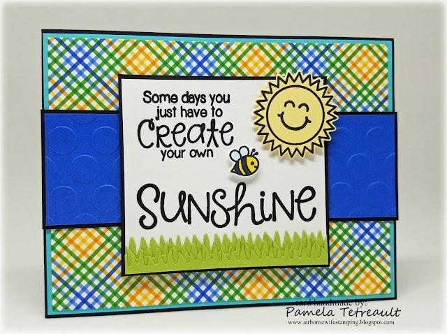 Sunny Studio Stamps: Sunny Sentiments sunshine card by Pamela Tetreault