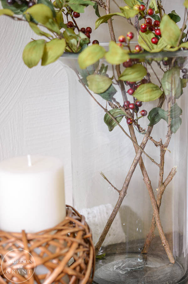 Realistic Looking Faux Berry Branches   | www.andersonandgrant.com