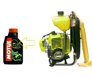 takaran+oli+samping+mesin+potong+rumput