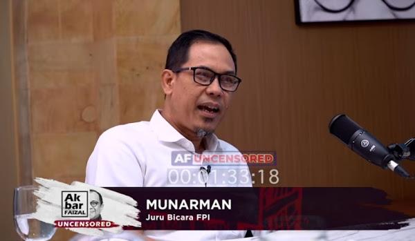 Soal Ucapan Kasar HRS, Munarman: Tidak Ada Komplain, Kalangan Bawah Mendukung Habis