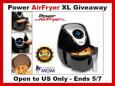 Enter the Power AirFryer XL Giveaway. Ends 5/7
