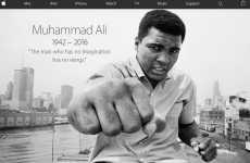 Apple rinde homenaje a Muhammad Ali (Cassius Clay) en su página de inicio
