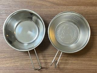 ダイソーのシェラカップとSHO'Sのシェラカップ