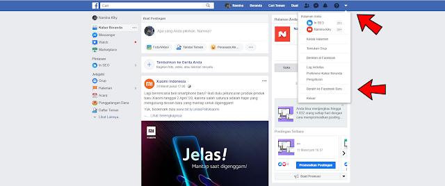 Cara Mengaktifkan Tampilan Baru Facebook Desktop