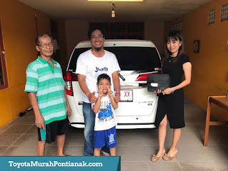 Pak Dedy Ari Asfar beli Calya 1.2 G MT warna putih - Harga Toyota di Pontianak