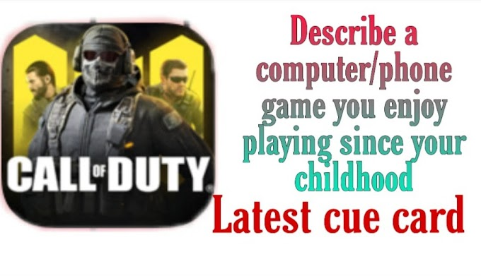 Describe a computer/phone game you enjoy playing since your childhood cue card