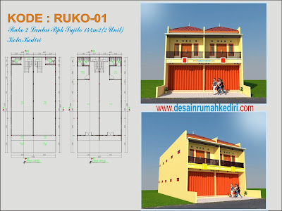 ruko-01 : ruko 2 lantai pak sujito - sukorame kediri