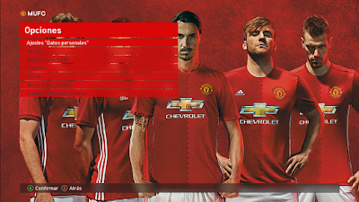 PES 2017 Manchester United Graphic Theme + Video Intro by Fauda