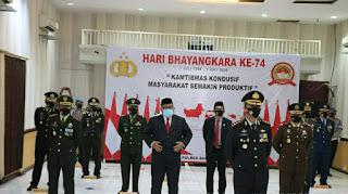 Bupati Sukabumi Ikuti Upacara Virtual Peringatan Bhayangkara Ke-74