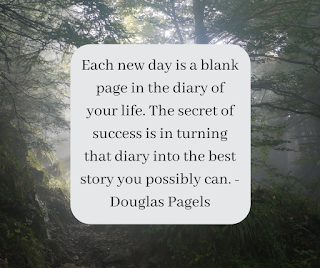 Each new day is a blank page in the diary of your life. The secret of success is in turning that diary into the best story you possibly can. - Douglas Pagels