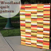 Woodland free quilt pattern from A Bright Corner