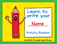 Learn to write your name printable booklet