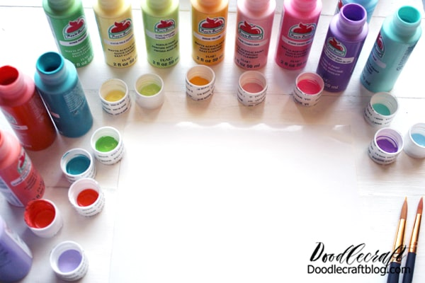 Step 1: Open Paint Begin by opening up all the Apple Barrel Paints you want to use...or pour a little bit into a palette.