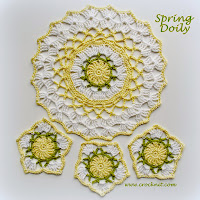 crochet patterns, how to crochet, doily, coasters,