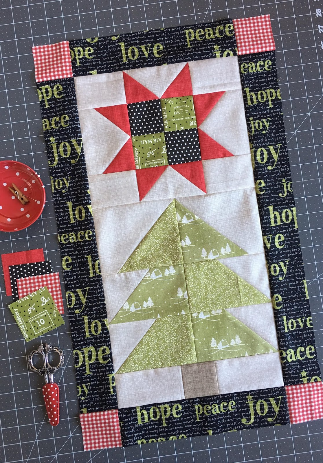 Quilt Pattern ~ STAR CROSSED PINES ~ by Carried Away Quilting