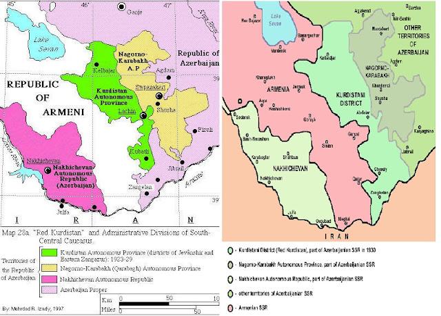 من وراء تغييب المنطقة الكردية المحتلة من قبل أرمينيا وأزربيجان ؟؟