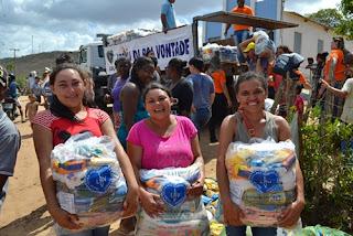 Famílias rurais do Brejo Paraibano serão assistidas com Natal da LBV