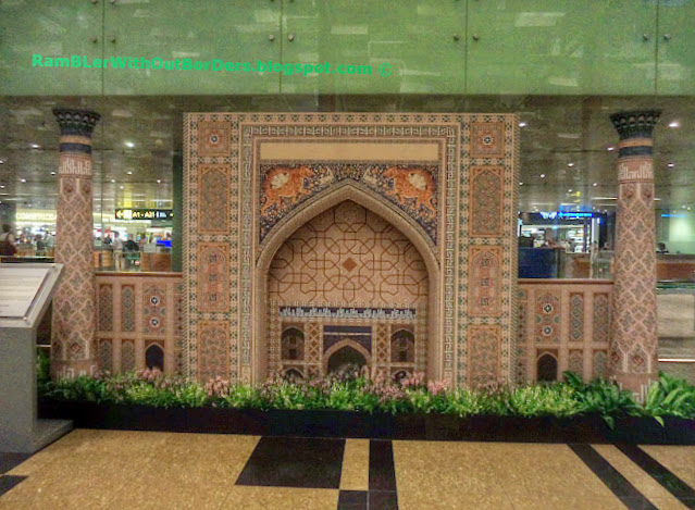 Uzbekistan display, Departure Hall, T3, Changi Airport, Singapore