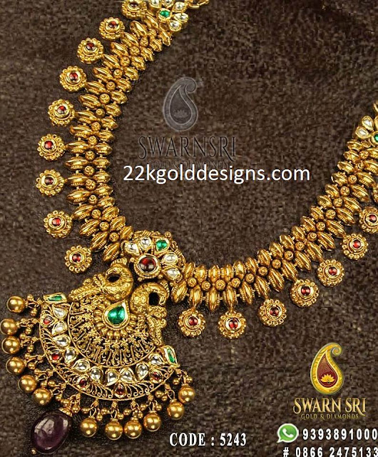 Pachi Diamond Antique Necklace with Weight