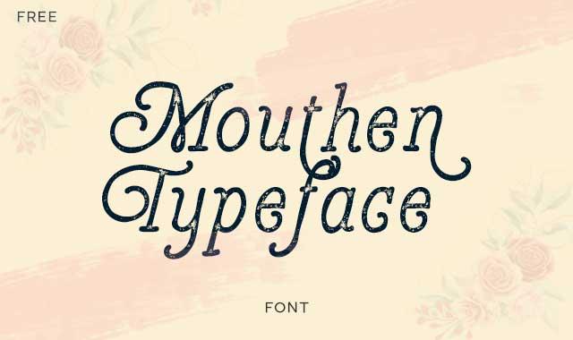 Mouthen Typeface - Free Font