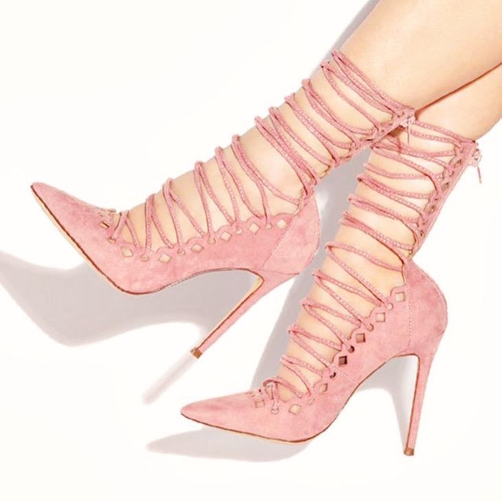 Lola-Shoetique-AUDACIOUS-ROSE-Front-Lace-Up-Cutout-Pump-Vivi-Brizuela-PinkOrchidMakeup