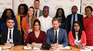 harry crashed meghan's round table disucssion one young world summit 2019