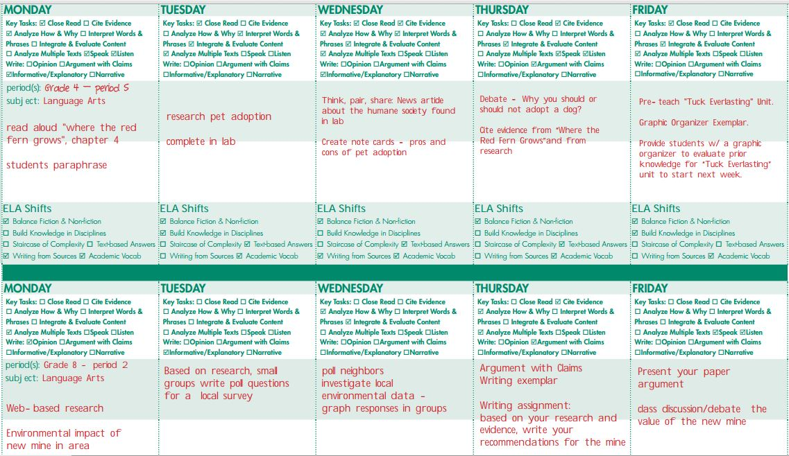 SHIELD Sample Common Core ELA Lesson Plan - sample common core lesson plan