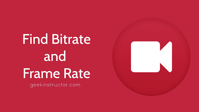 Find video bitrate & frame rate on Android