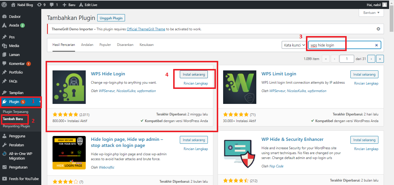 cara mengganti url login wordpress