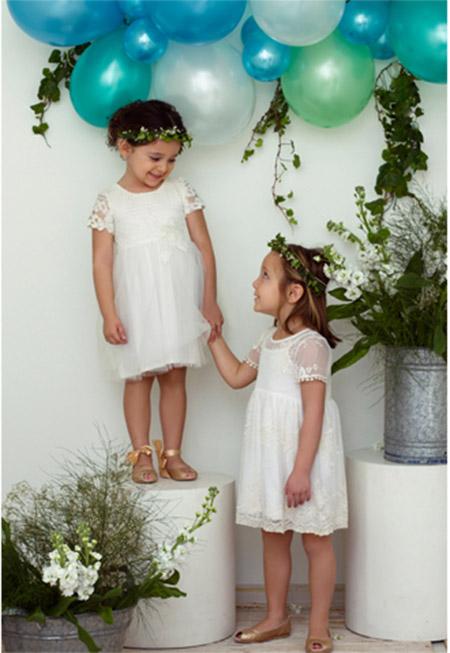 Moda en vestidos verano 2018 para niñas.