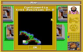 Mapa King's Bounty - Amiga