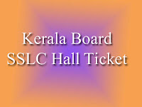 Kerala SSLC Hall Ticket 2017 Download