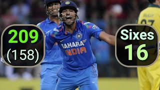 Rohit Sharma 209 vs Australia | 1st Double Hundred Highlights