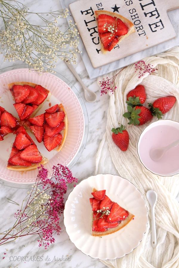 Tarta de Fresas y Almendra