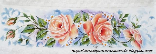 ramos de rosas pintado