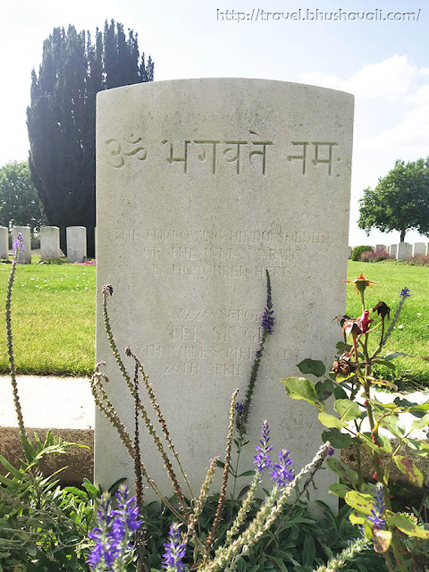 WWI Soldiers Indian Graves in New Irish Farm Cemetery