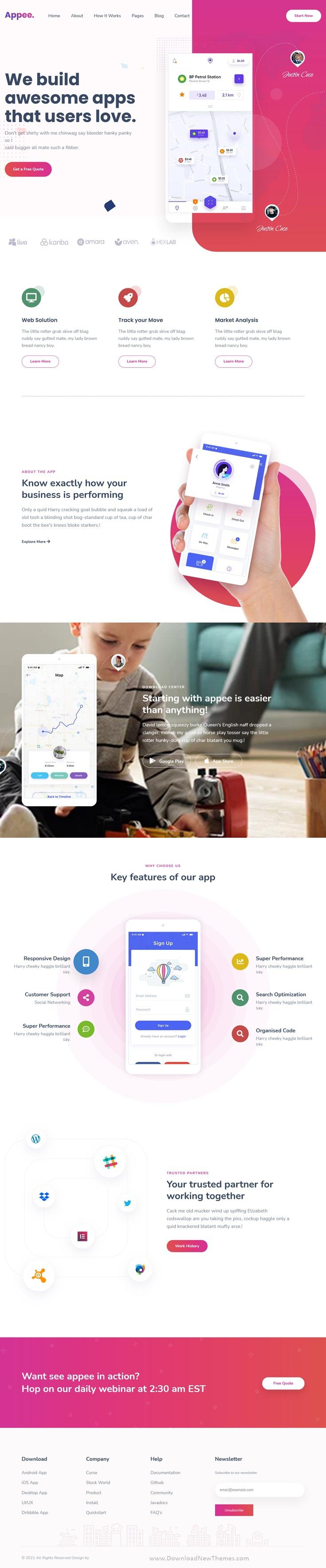 SaaS, Software & WebApp HubSpot Theme