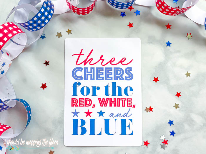 Three Cheers for the Red, White, and Blue Free Printables