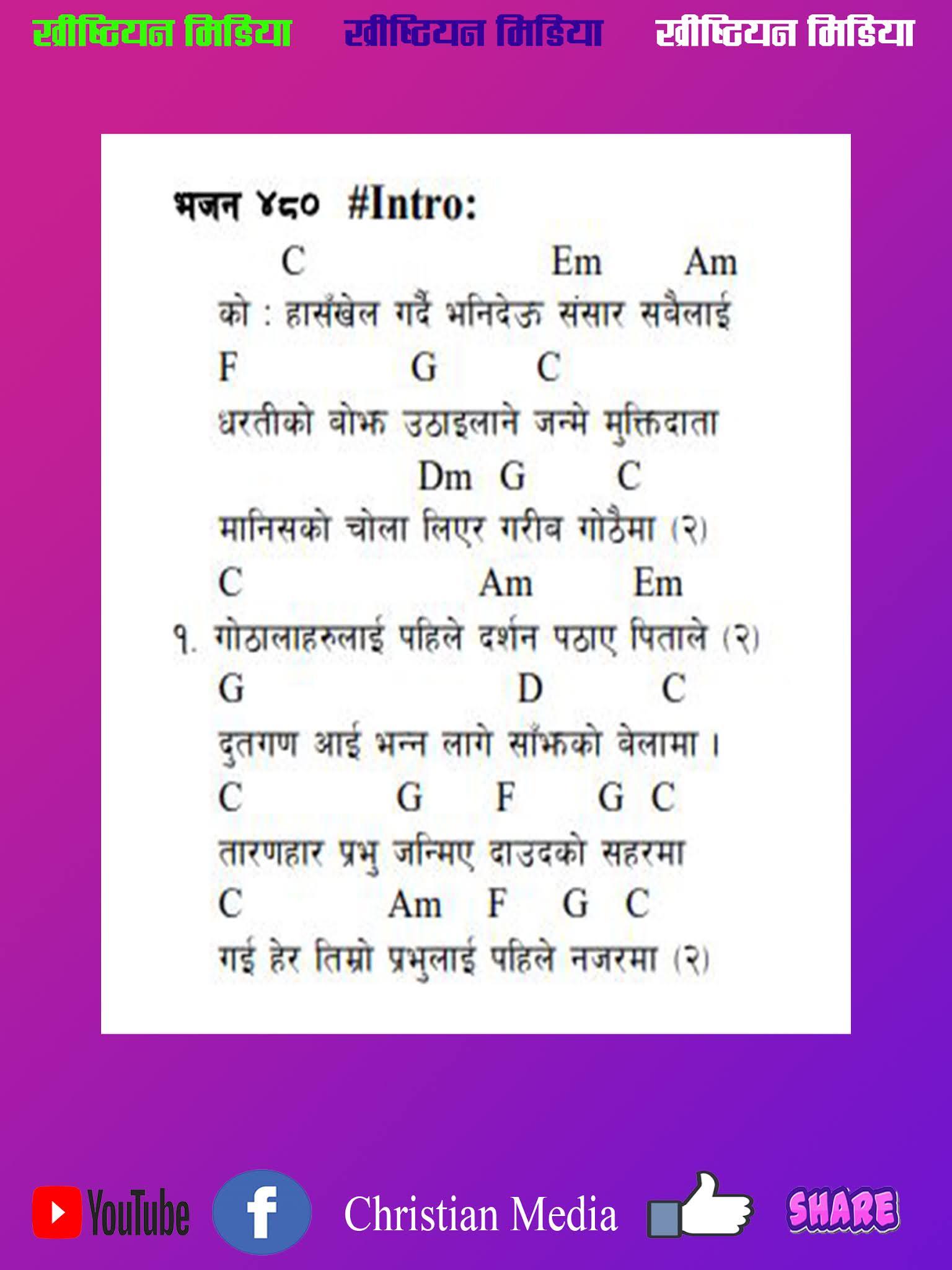 Khrishtiya Bhajan 15 Haskhel Gardai Vanideu Hai Guitar Chords and ...