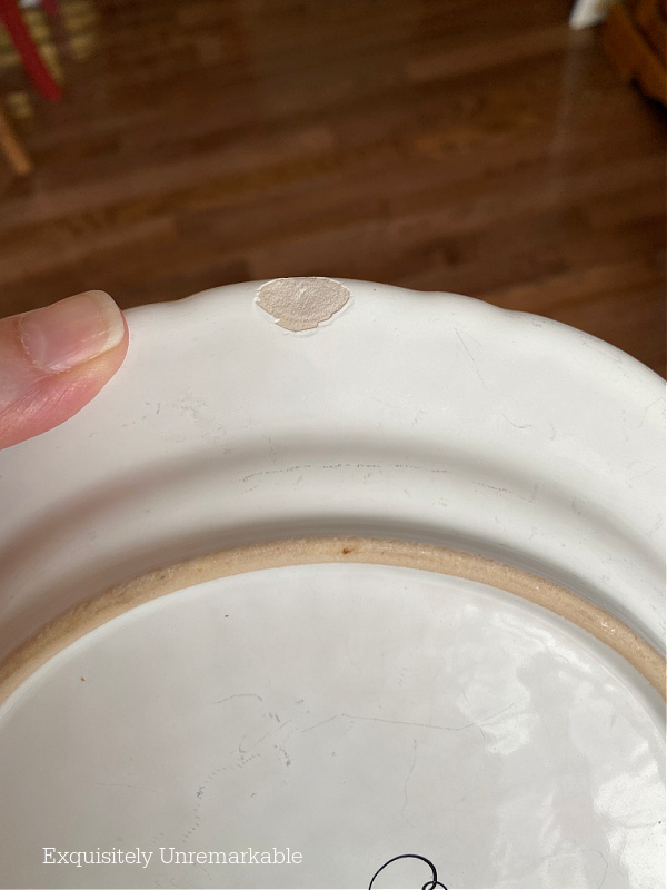 Chipped Plate