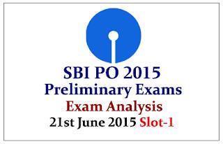 SBI PO 2015- Prelims Exam Analysis