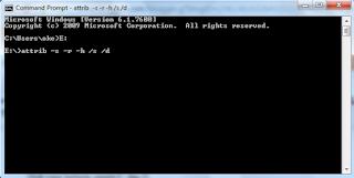 Cara Menghapus Virus Shortcut Di Flashdisk Dengan CMD