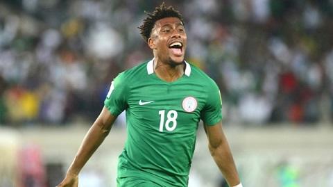 Iwobi đã chính thức giành chiến thắng ở hạng mục cầu thủ xuất trẻ sắc của Châu Phi 2017
