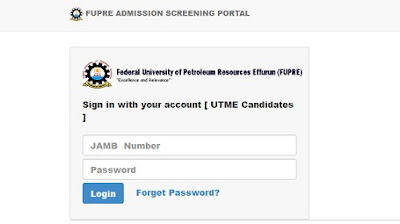 FUPRE admission list